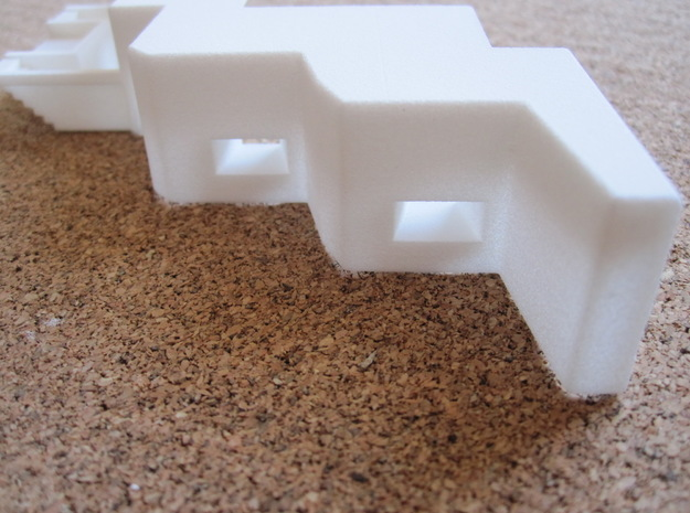 1/144 heavy MG Bunker for Russian Stalin Line 3d printed