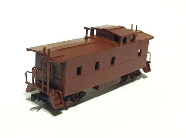 Southern Pacific C-40-3 Caboose as built N Scale in Smooth Fine Detail Plastic