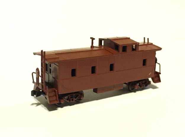 Southern Pacific C-40-3 Caboose modernized N Scale in Smooth Fine Detail Plastic