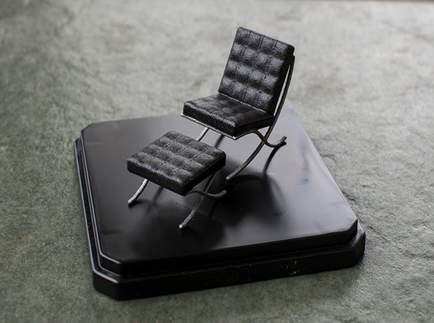Miniature Barcelona Chair - Ludwig Van Der Rohe