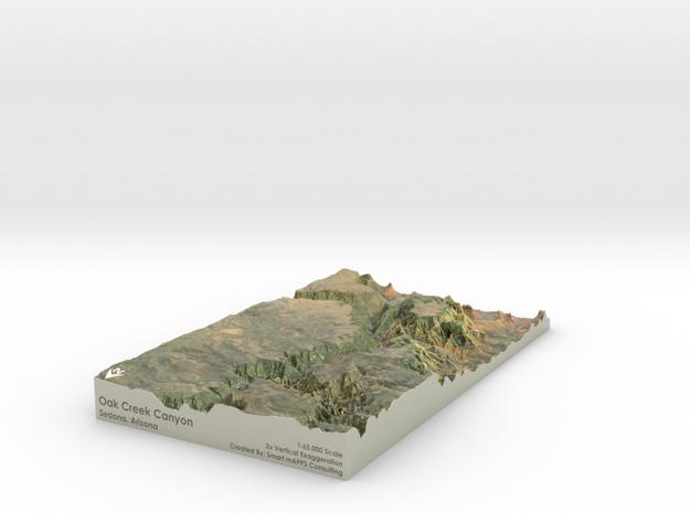 """Oak Creek Canyon Map: 7""""x12"""""""
