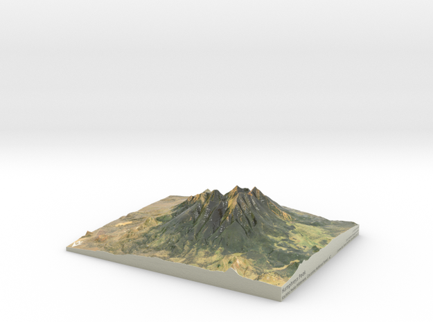 "Humphreys Peak Map: 8""x10"" in Coated Full Color Sandstone"