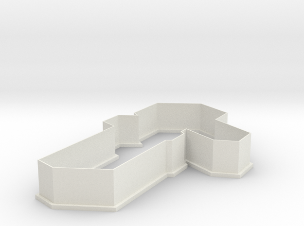 Minecraft Zombie Cookie Cutter in White Natural Versatile Plastic