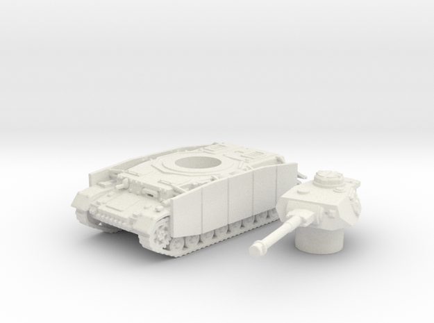 Pz.Kpfw. IV Ausf. tank (Germany) 1/144 in White Natural Versatile Plastic