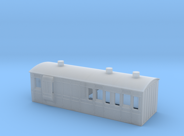 """NSR 4wheel Brake Third body """"ABC"""" - 4mm scale in Smooth Fine Detail Plastic"""