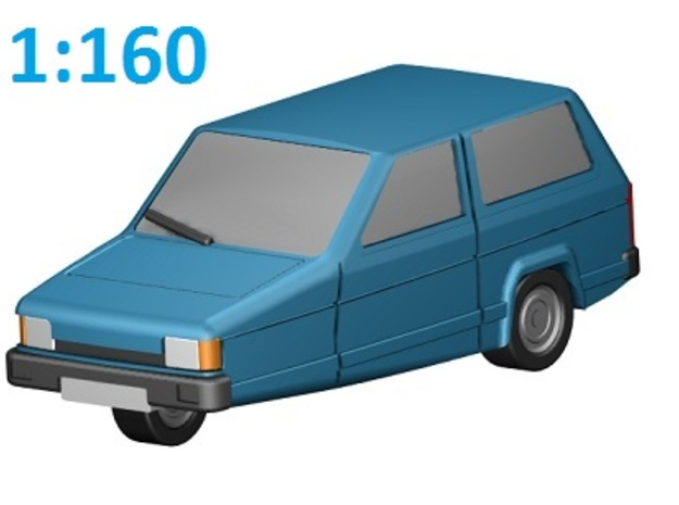 Reliant Robin (N, 1:160) in Smooth Fine Detail Plastic