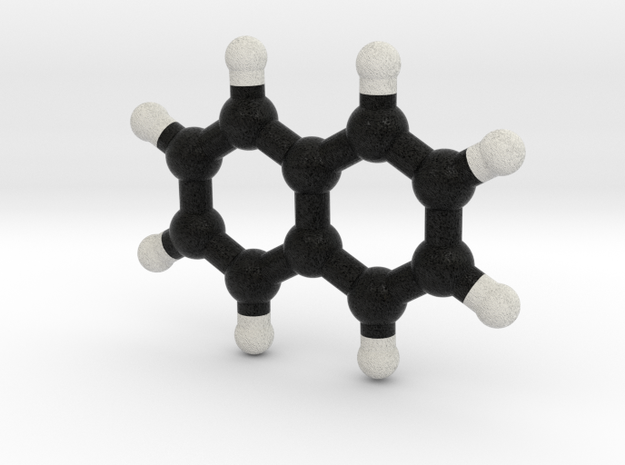 Naphtalene Molecule Model. 3 Sizes. in Full Color Sandstone: 1:10