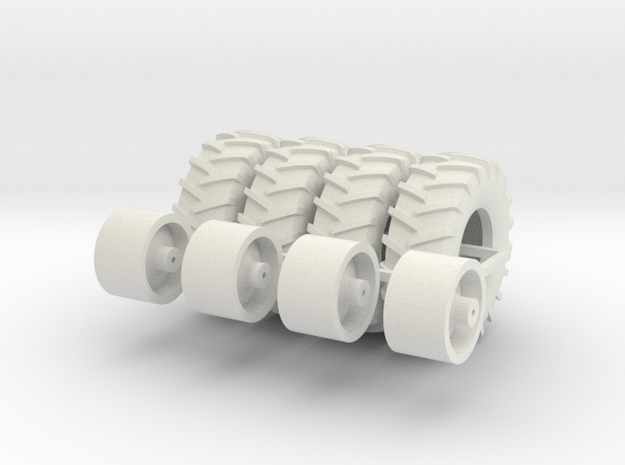 18.4-26 Cart Wheels And Tires x 4 in White Strong & Flexible