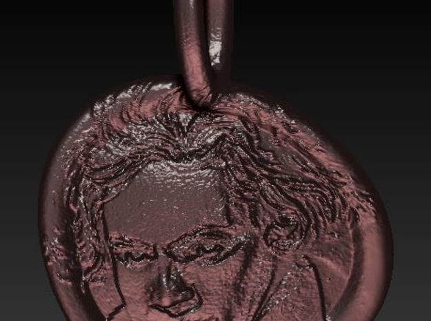 Beethoven's medalion 3d printed Add a caption...
