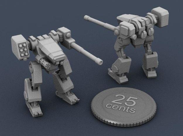 Terran Combat Walker 3d printed Renders of the model, with a virtual quarter for scale.