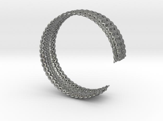 Bracelet Deco Xs in Natural Silver