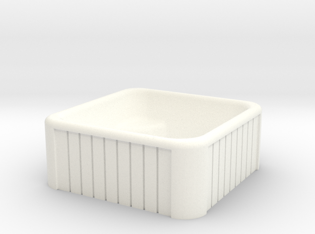 N Scale Whirlpool in White Processed Versatile Plastic