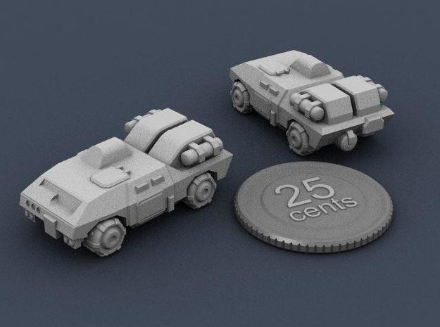 Terran APC 3d printed Render of the model, with a virtual quarter for scale. The quarter is 1 inch wide.