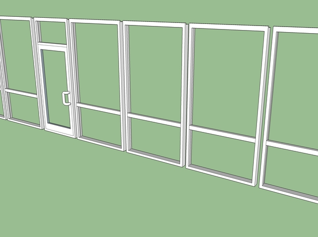 Storefront 1:35 in Smooth Fine Detail Plastic