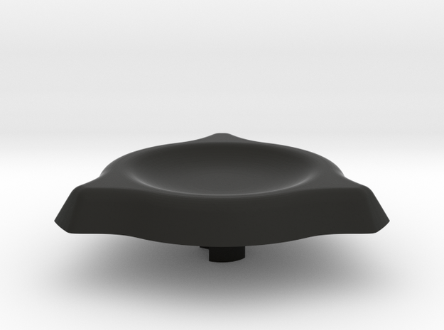 Spinner Cap 1.1 in Black Natural Versatile Plastic