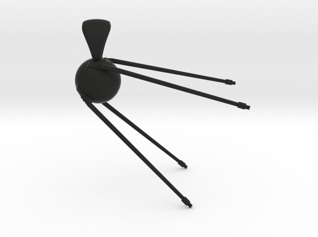 Sputnik 1 Pendant in Black Natural Versatile Plastic