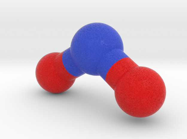 Nitrogen dioxide, NO2, Molecule Model. in Full Color Sandstone: 1:10