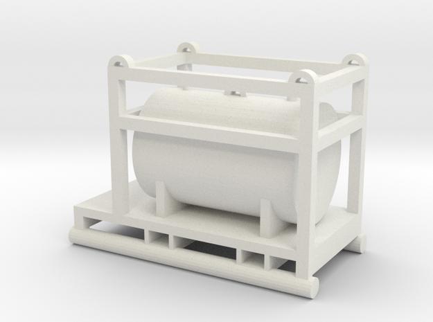 1:64 550 Gallon Skid Fuel Tank  in White Natural Versatile Plastic