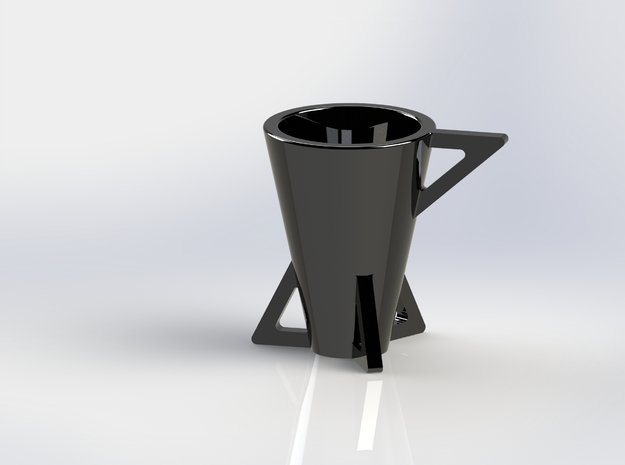 Edge Espresso Cup 3d printed Solidworks Render