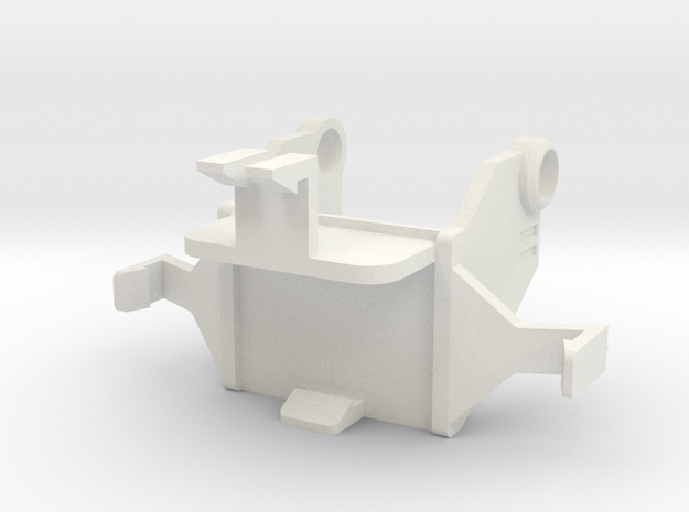 Combiner Wars and Unite Warriors - Hood Upgrade in White Natural Versatile Plastic