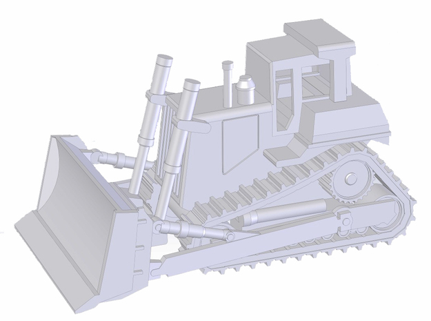 High Track Dozer in Smooth Fine Detail Plastic