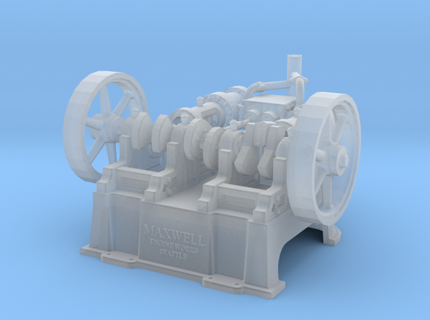 "Maxwell Horizontal 10"" Twin Steam Engine in Frosted Ultra Detail"