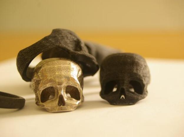 3D Printed Skull Ring by Bits to Atoms 3d printed skull composition