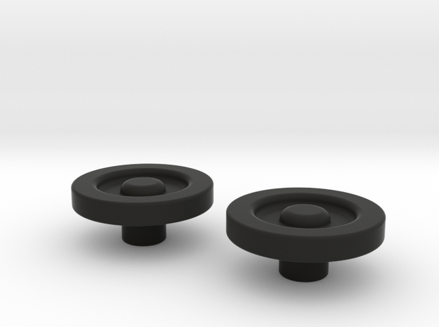 FO Tie Plugs in Black Natural Versatile Plastic