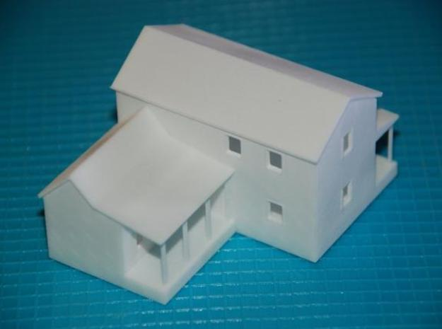 CBR Section Foreman House - Z Scale in White Natural Versatile Plastic