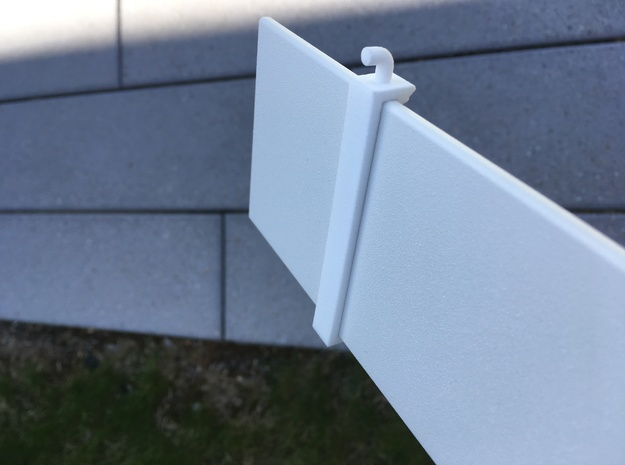 CubeHook in White Natural Versatile Plastic