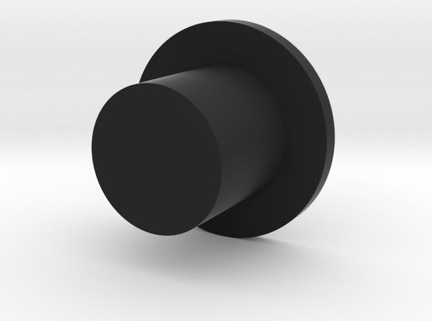 Start Button in Black Natural Versatile Plastic