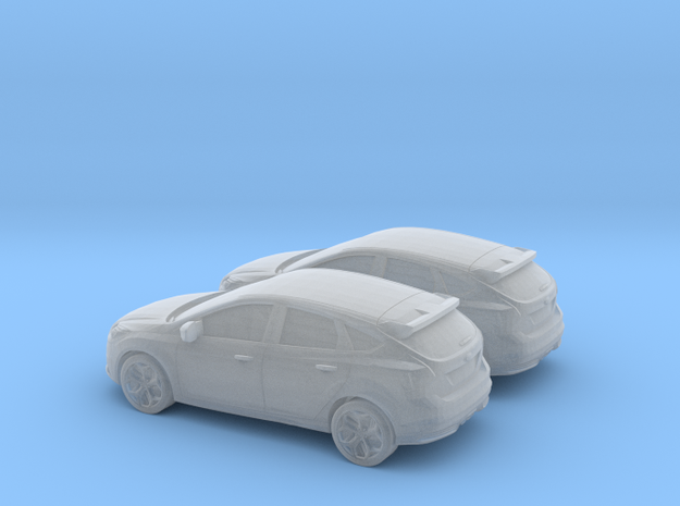 1/120 2X 2012 Ford Focus in Smooth Fine Detail Plastic