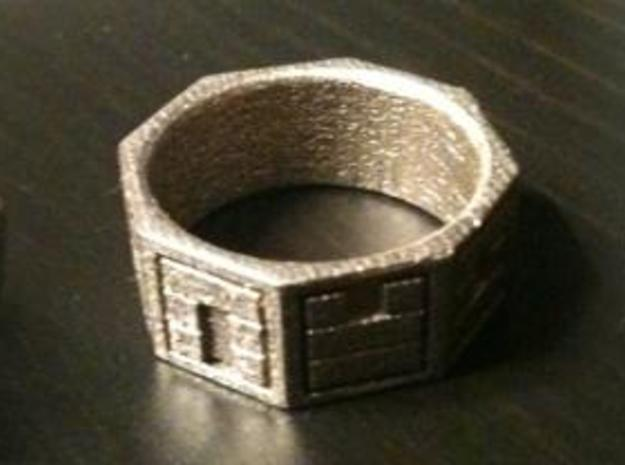 Dharma 3d printed A ring design inspired by the Dharma initiative logo from Lost