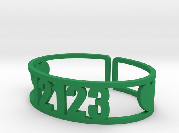 Schodack Zip Cuff in Green Processed Versatile Plastic
