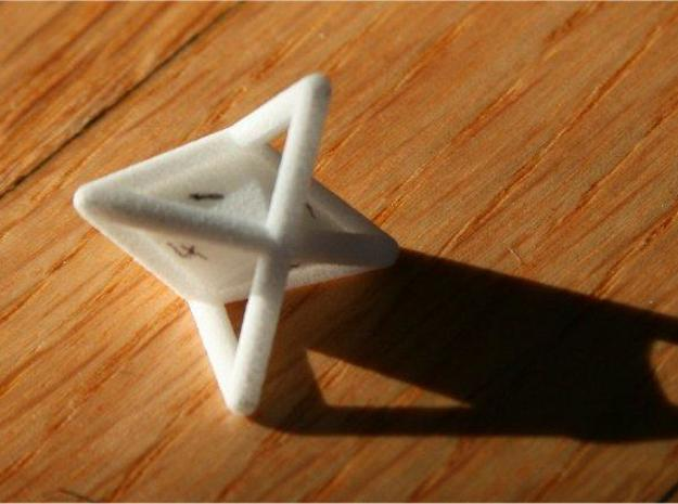 d6 die-pyramid blank 3d printed Description