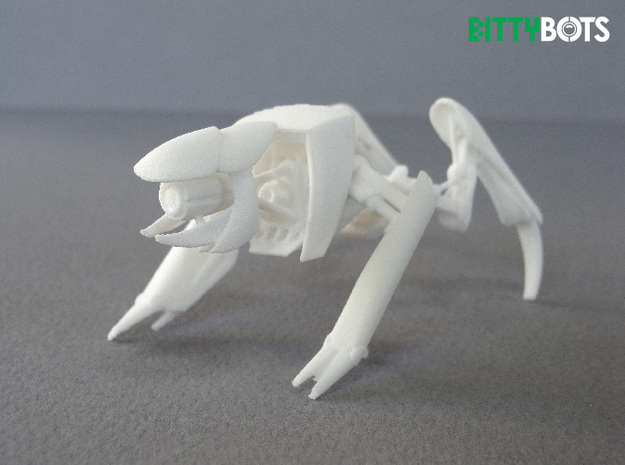 Rover BittyBot MK1 3d printed White Strong and Flexible