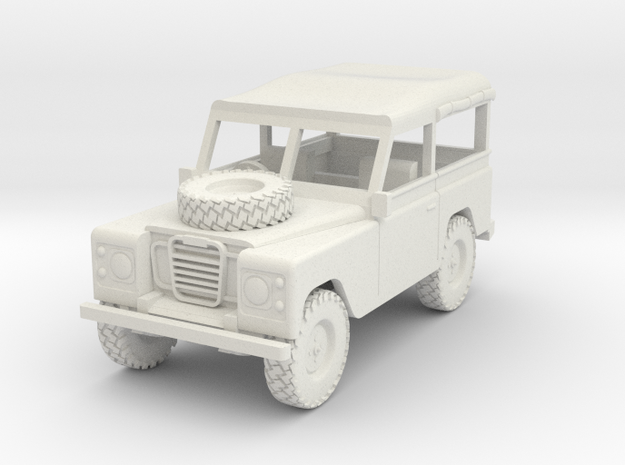 Land Rover 1:30 scale Soft Top Rolled Up. in White Strong & Flexible