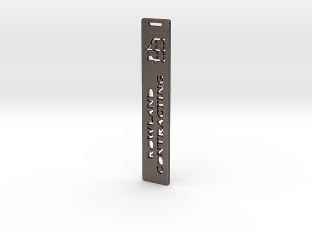 RCS Bookmark in Polished Bronzed Silver Steel
