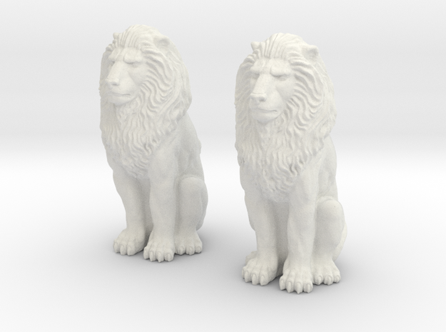 Lions Twin in White Natural Versatile Plastic