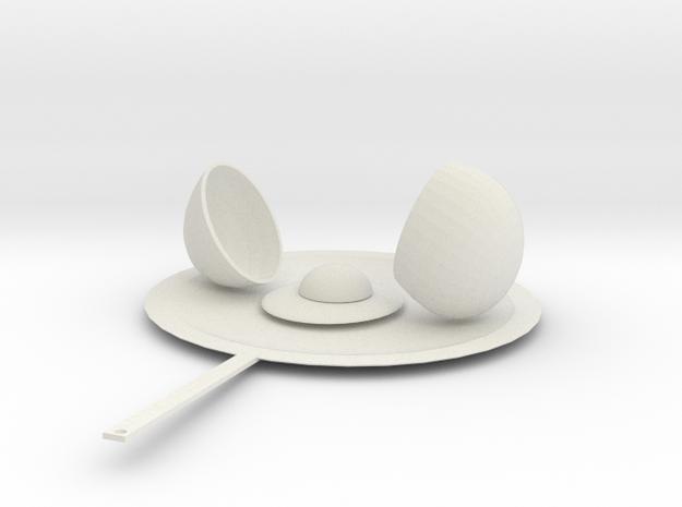 Egg in a skillet in White Natural Versatile Plastic