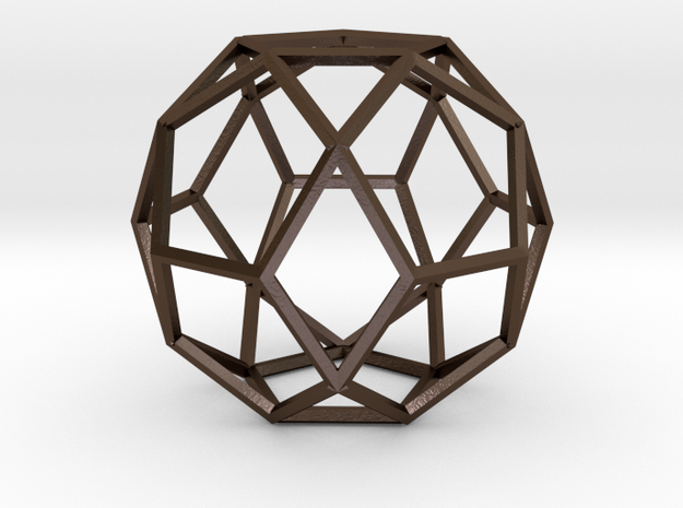 Polyhedrea2 in Polished Bronze Steel
