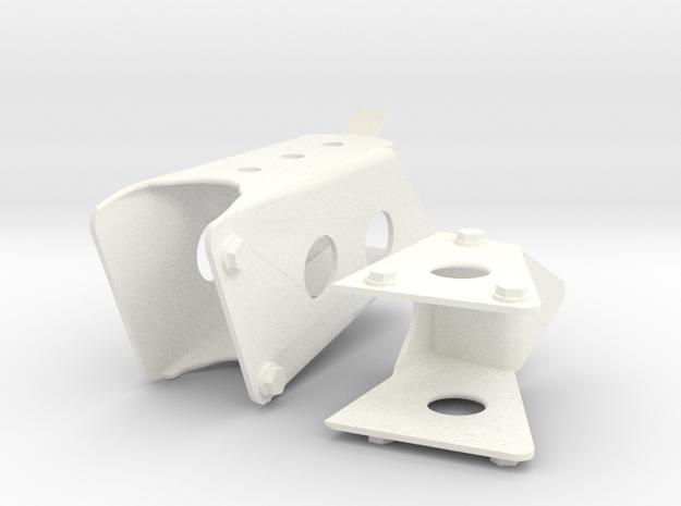 1.6 Marche Pied Triangulaire EC in White Processed Versatile Plastic