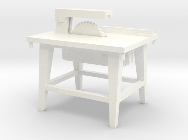 1:50 Bauzubehör Kreissäge / Table Saw in White Strong & Flexible Polished