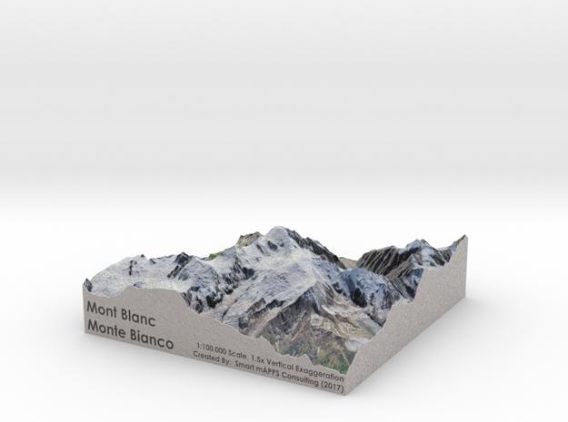 Mont Blanc Map: 100K
