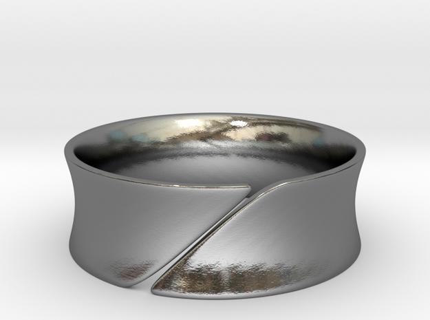 Slice in Polished Silver