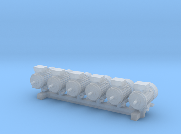 Electric Motor Size 1 (6pc) in Smooth Fine Detail Plastic