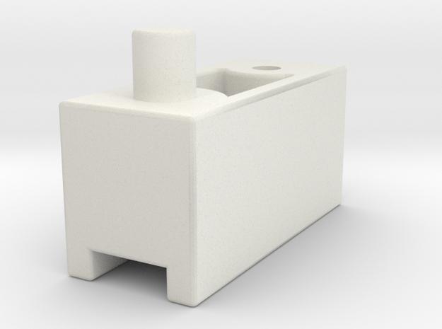M05 Battery Mount LP Spacer in White Natural Versatile Plastic