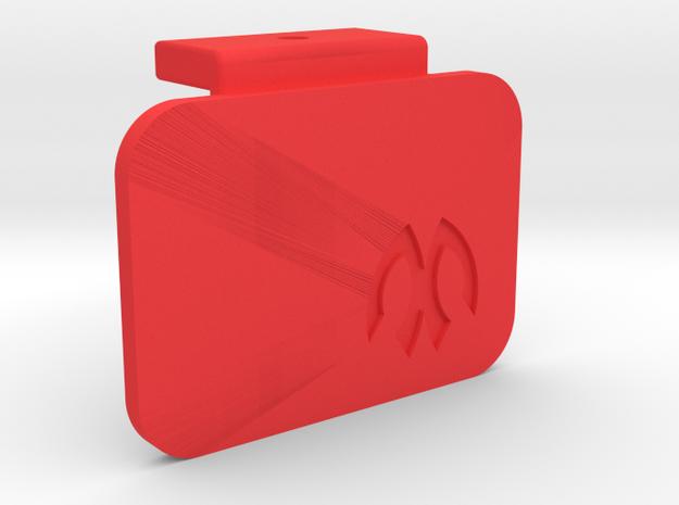 Symmetric M05 Battery Mount Cap in Red Processed Versatile Plastic