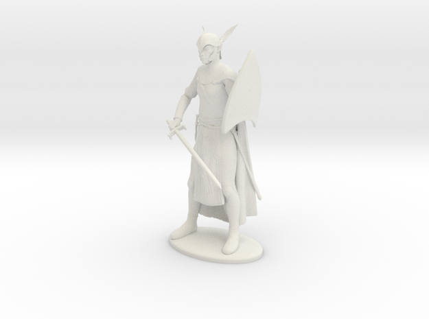 High Elf Miniature in White Strong & Flexible: 1:55
