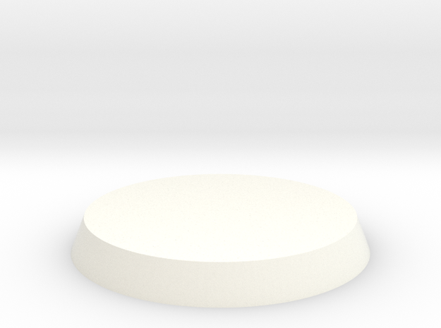 Circular Base in White Processed Versatile Plastic